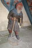 """Skulptuur """"Küreene Siimon"""". Tundmatu meister, 1450. aastad (polükroomia, puit). Foto: M.Koppel"""
