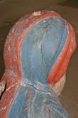 """Skulptuur """"Küreene Siimon"""". Tundmatu meister, 1450. aastad (polükroomia, puit). Detail. Foto: M.Koppel 10.08.2005"""