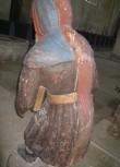 """Skulptuur """"Küreene Siimon"""". Tundmatu meister, 1450. aastad (polükroomia, puit). Detail. Foto: S.Simson 30.06.2009"""