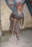 """Skulptuur """"Küreene Siimon"""". Tundmatu meister, 1450. aastad (polükroomia, puit). Foto: S.Simson 30.06.2009"""