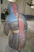 """Skulptuur """"Küreene Siimon"""". Tundmatu meister, 1450. aastad (polükroomia, puit). Foto: M.Koppel 10.08.2005"""