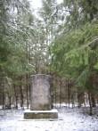 II maailmasõjas hukkunute ühishaud Rava külas. Foto: Ly Renter, 29.02.2008
