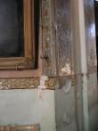 Vaade irduva värvi ja krohviga seinale. Foto Egle Tamm, 15.04.2014.