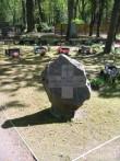 Lõuna-Eesti vabastajate monumendi algne asupaik on tähistatud kiviga. Foto Egle Tamm, 16.05.2014.