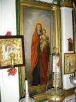 """Ikoon """"Jumalaema Kristuslapsega"""" ikonostaasil. Foto: S.Simson 20.08.2006"""