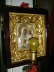 """Ikoon """"Jumalaema Kristuslapsega"""" kappraamistuses Foto: S.Simson 20.08.2006"""
