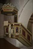 Kantsel kõlaräästaga (koopia). Rootsi töö, J. Hammerman, umb. 1990 (puit, vineer, puitmass) Foto: S.Simson 02.10.2005