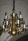 Kroonlühter kahepealise kulliga ja kümne tulega. KAR, 1990 Foto: S.Simson 02.10.2005