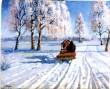 Maal «Talv», A. Jegorov, 1945 (õli, vineer). Pärast konserveerimist. Foto: J. Heinla, 2004.