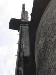 Vallimäe tuuleveski :15741, vaade avariilises ehitustehnilises olukorras olevale säilinud tiivalabale  Autor ANNE KALDAM  Kuupäev  02.06.2008