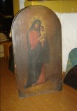 Ikoon ikonostaasilt. Jumalaema Kristuslapsega. Foto: S.Simson 26.10.2006