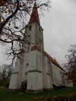 Kihelkonna kiriku läänepoolne osa. Foto: Rita Peirumaa. 22.10.2014