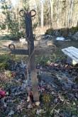 Kalmistu ainuke külasepa rist. Foto: M.Abel, kp 16.03.15