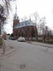 Veski 3 katoliku kirik Jakobi tänava poolt vaadatuna. Foto Egle Tamm, 26.03.2015.