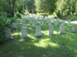 Vaade idast I maailmasõjas ja Vabadussõjas langenute matmispaigale Rakvere linnakalmistul. Foto 2.07.2015, A.Kivirüüt.