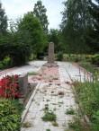 II Maailmasõjas hukkunute ühishaud Kodavere kalmistul. Foto: Sille Raidvere 26.08.2015