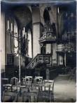 Tallinna Niguliste kiriku kesklöövi vaade koos kanstliga W suunas enne Teist maailmasõda. Foto: J. ja P. Parikas, 1920. aastad, Tartu Ülikooli Kunstiajalooline Fotokogu, C-94-586