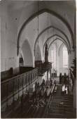 Tallinna Niguliste kirik. Põhja-külglöövi vaade O-sse. Foto: Tartu Ülikooli Kunstiajalooline Fotokogu, A-94-556