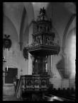 Tallinna Niguliste kiriku kantsel (Bogislaus von Rosen. 1624, hävinud). Üldvaade W suunas. Foto: 1920. aastad. Tartu Ülikooli Kunstiajalooline Fotokogu