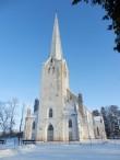 Tarvastu kirik edelast. Foto: Anne Kivi, 14.01.2016