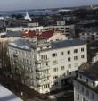 Elamu F.R.Kreutzwaldi t. 15. Vaade raadiomaja katuselt. 09.03.2016. Foto: Timo Aava