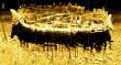 Külgvaate sonari kujutis vraki leiukohast. SubZone Oy/ Muinsuskaitseamet 2012.