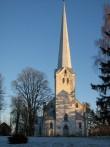 Tarvastu kirik läänest. Foto: Anne Kivi, 02.01.2009