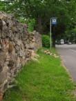 Vana mõisa piirdemüüri varingud  Viljandi maanteel, vaade edelast.  Autor Sille Raidvere  Kuupäev  29.05.2014