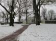 Maidla mõisa piirdemüüri teenijatemaja poolne kaarvärav. Foto: Kalle Merilai 17.11.2016.a.