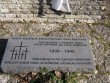 II maailmasõjas hukkunute matmispaik, reg. nr 22300. Vaade suure risti juures olevale mälestustahvlile. Foto: Anne Kaldam, kuupäev 21.04.2009
