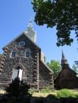 Ruhnu uus ja vana kirik. Foto: K. Saks, 14.06.2016