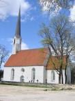 Väike-Maarja kirik 16107,-vaade lõunafassaadile- avariiline pikihoone katusekate  Autor Anne Kaldam  Kuupäev  08.05.2009