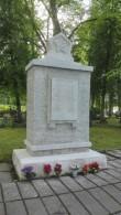 II maailmasõjas hukkunute ühishaud Paides Reopalu kalmistul, hauamonument. Foto: K. Klandorf 09.06.2017.
