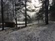 Lääniste linnamäe vaade külaplatsilt, loodesuunast. Foto 25.02.2017, A.Kivirüüt.