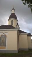 Nikolai kiriku põhjakülg pärast värvimist. Foto: Rita Peirumaa 6.10.2017