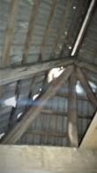 Goldbergi villa Palamusel, avariiline katus laepealselt.  Aeg: 28.08.2017 Foto: Sille Raidvere