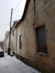 Elementaarkooli hoone, vaade põhjapoolsele avariilisele seinale. Foto: M.Abel, kp 15.01.18