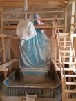 Haljala kiriku kooriruumi restaureerimistööd, vaade kinnikaetud altarile. Foto: M.Abel, kp 15.02.2018