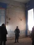 Kuremaa mõisa peahoone Fuajee restaureerimine. Algne roosakas seinaviimistlus.  Foto: Sille Raidvere  Aeg: 16.01.2018