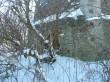 Porkuni mõisa tuuleveski. Foto: Raili Uustalu 01.03.2018. Lähivaade idast tuuleveskile. Ümbrus on võsastunud.