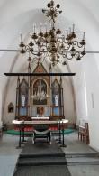 Viru-Jaagupi kirik, vaade altarile. Foto: M.Abel, kp. 13.03.18