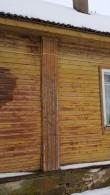 Viru-Jaagupi pastoraadihoone, vaade läänest märgunud fassaadile. Foto: M.Abel, kp 13.03.18