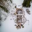 Kuri õigeusu kiriku varemed, pealtvaates. Foto: Hiiumaa Mudeliklubi, 18. veebruar 2018