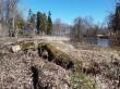 Arkna mõisa paistiigi maabumistrepp. Foto: Raili Uustalu 13.04.2018.