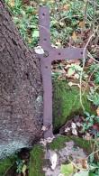 Külasepa raudrist Hulja kalmistul. Foto: M.Abel, kp 04.10.18