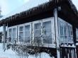 Lillebergi talu elamu. Foto: Raili Uustalu 03.01.2019. Vaade hoone verandale lõunast.