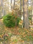 Metallist hauatähis Kärla kalmistul. Foto: Keidi Saks, 17.10.2018