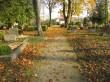 Vaade kalmistu peaväravate suunas. Foto: Keidi Saks, 17.10.2018