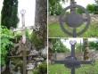 Väike-Maarja kirikuaed ja kalmistu, reg nr 5818. Vaateid sepisristidele kirikuaiast. Foto: M. Abel, 08.09.2009.