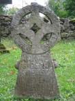 Väike-Maarja kirikuaed ja kalmistu, reg nr 5818. Vaade Michkle Matis`e ehk Vistla Matsi rõngasristile aastast 1718. Foto: M. Abel, 08.09.2009.